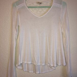 White long sleeve with lace back